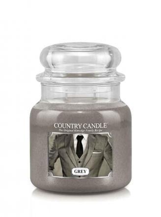 Kringle grey świeca średni słoik 2 knoty