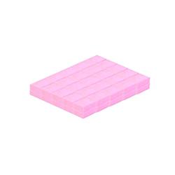 mini buffer kostka różowy 50 sztuk