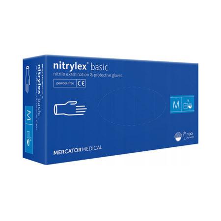 nitrylex rękawice nitrylowe niebieskie blue Basic rozmiar m do paznokci